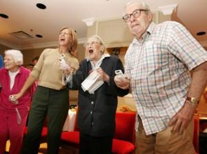 Pensionärer hade inga problem med att spela Wii